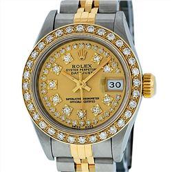 Rolex 18KT Two Tone 0.70ctw Diamond Datejust Ladies Wristwatch