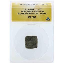 1511-1531 India 1/2 Tanka Coin ANACS VF30
