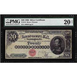 1880 $20 Silver Certificate Note Fr. 312 PMG Very Fine 20 Net