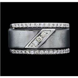 Men's 14KT White Gold 0.93ctw Diamond Wedding Ring
