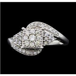 10KT White Gold Ladies 0.50ctw Diamond Ring