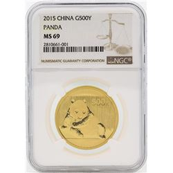 2015 China 500 Yuan Panda Gold Coin NGC MS69