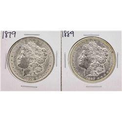 Lot of 1879 & 1889 $1 Morgan Silver Dollar Coins