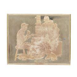 Norman Rockwell Fondest Memories 1500 Grains Sterling Silver Ingot