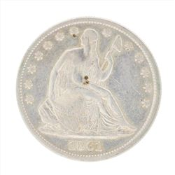 1861 Seated Liberty Half Dollar Coin