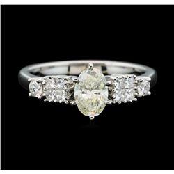 Platinum 1.11ctw Diamond Ring