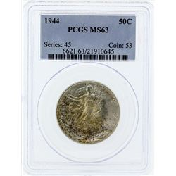 1944 Walking Liberty Silver Coin PCGS MS63