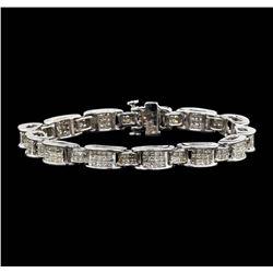14KT White Gold 6.67ctw Diamond Bracelet