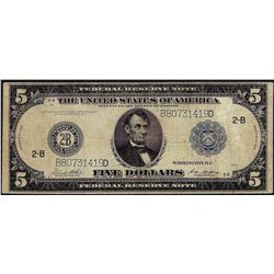 1914 $5 Federal Reserve Bank Note