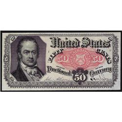 1875 Fifty Cents Fifth Issue Fractional Currency Note