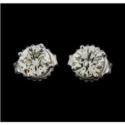 14KT White Gold 1.20ctw Diamond Earrings