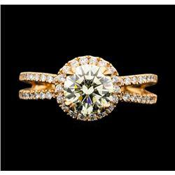 14KT Rose Gold 1.85ctw Diamond Ring