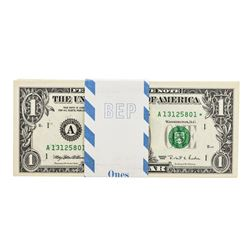 Pack of (100) Consecutive 1995 $1 Federal Reserve Star Notes Boston