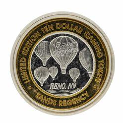 .999 Silver Sands Regency Reno, Nevada $10 Casino Limited Edition Gaming Token