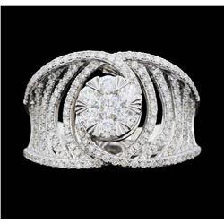 14KT White Gold 1.00ctw. Diamond Effy Designer Ring