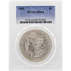 1902 $1 Morgan Silver Dollar Coin PCGS MS64