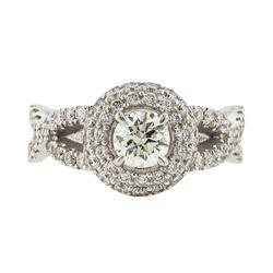14K White Gold 1.49ctw Diamond Ring