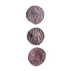 Lot of (3) 1540-1590 KB Hungary Ferdinand I - Madonna & Child Silver Denar Coins