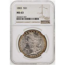 1883 $1 Morgan Silver Dollar Coin NGC MS63
