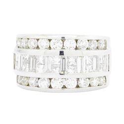 Platinum 3.65ctw Diamond Ring