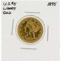 1895 $5 Liberty Head Eagle Gold Coin