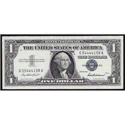 1957 $1 Silver Certificate Note ERROR Mismatch Serial Numbers