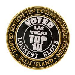 .999 Silver Ellis Island Casino & Brewery Las Vegas $10 Limited Edition Gaming T