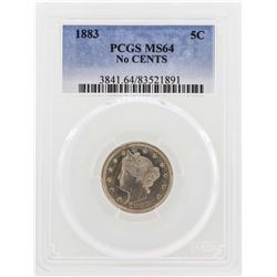 1883 No Cents Liberty Nickel Coin PCGS MS64