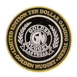 .999 Silver Golden Nugget Las Vegas $10 Casino Limited Edition Gaming Token