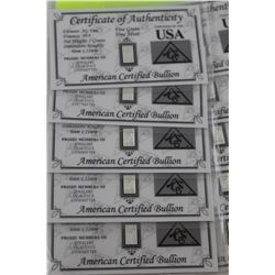 10 X .999 FINE SILVER INVESTOR BARS.  USA MINT.  SEALED/CERTIFIED WITH ASSAY CARD (TAX EXEMPT)