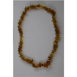 YELLOW/ORANGE BALTIC AMBER NECKLACE.  HAND KNOTTED