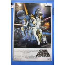 STAR WARS A NEW HOPE MOVIE POSTER (REPRINT)