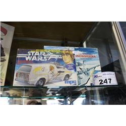 MPC EMPIRE STRIKES BACK SNOW SPEEDER SCALE MODEL KIT & LUKE SKYWALKERS VAN