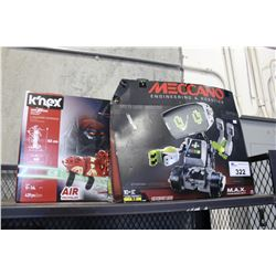MECCANO TOY ROBOT AND K'NEX ROLLER COASTER