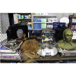 LOT OF ASSORTED STAR WARS COLLECTABLES