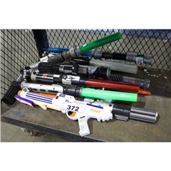 LOT OF ASSORTED STAR WARS LIGHT SABERS