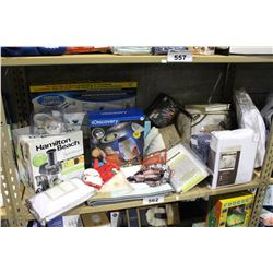 SHELF LOT OF DEPARTMENT STORE GOODS: HURRICANE SCRUBBER, SPIRALIZER DUVET COVER AND MORE