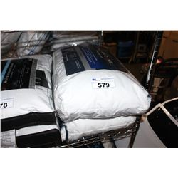 PAIR OF SYNTHETIC DOWN STOMACH/BACK SLEEPER PILLOWS