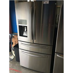 SAMSUNG STAINLESS STEEL FRENCH DOOR FRIDGE WITH TWO FREEZERS POWERED BY SODA STREAM
