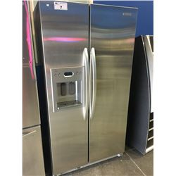 KITCHENAID STAINLESS STEEL SIDE BY SIDE FRIDGE WITH ICE AND WATER