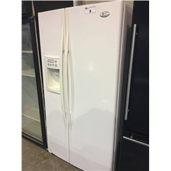 GE PROFILE SIDE BY SIDE FRIDGE WITH ICE AND WATER