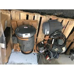 PALLET LOT OF FIVE INDUSTRIAL ELECTRIC MOTORS