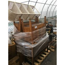 PALLET LOT OF OAK FURNITURE PIECES