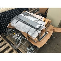 PALLET LOT OF METAL SHELVING AND OTHER