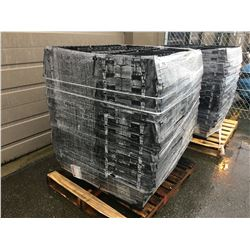 PALLET LOT OF APPROX 48 BLACK PLASTIC TOTES