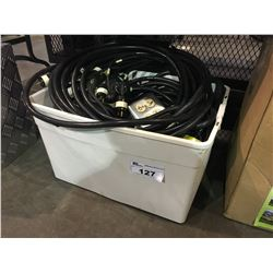 BOX OF ELECTRICAL CABLES