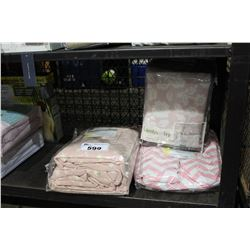 SHELF LOT OF BEDDING