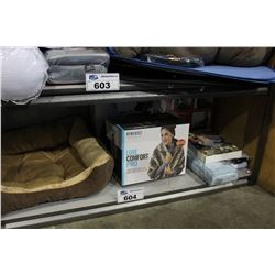 SHELF LOT OF DEPARTMENT STORE GOODS: MASSAGING SHAWL, PET BED AND MORE