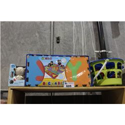 SHELF LOT OF DEPARTMENT STORE GOODS: CHILDRENS TOYS