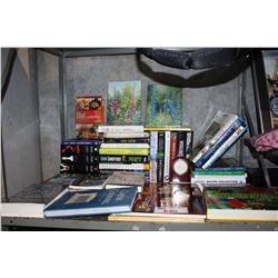SHELF LOT OF BOOKS